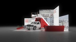 Kopfstand Miete IAA Nutzfahrzeuge Hannover Messestand Messebau Messewand Messesystem