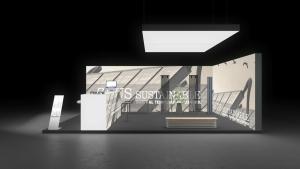Messestand Das eigene Haus Energie Berlin exhibit Messebau Messewand Messe Stand Messesystem
