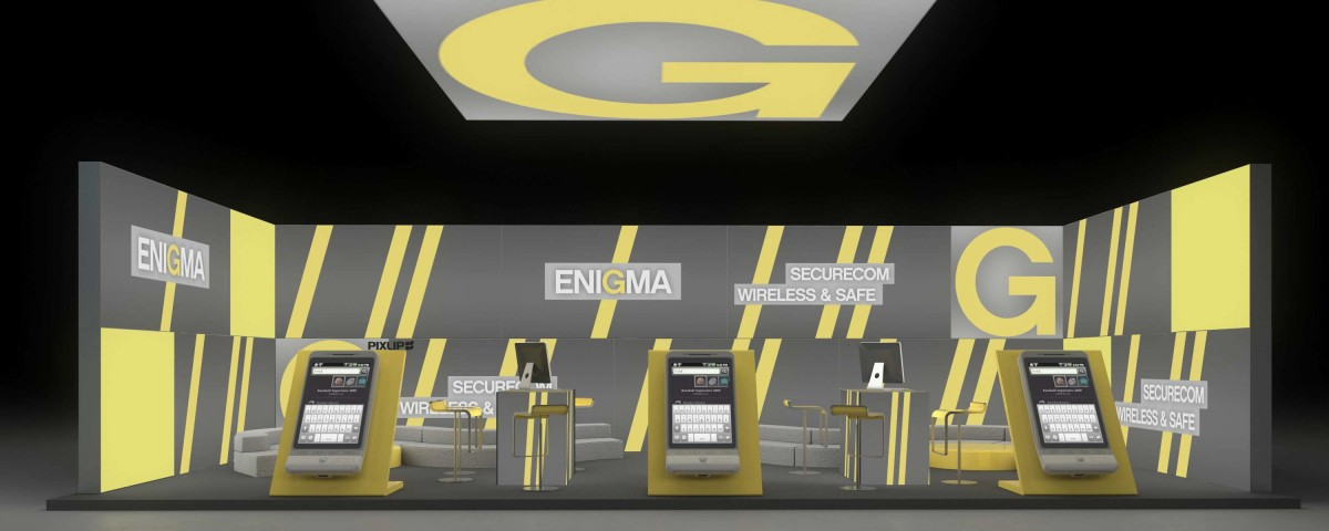 messestand cebit hannover exhibition stand booth trade fair