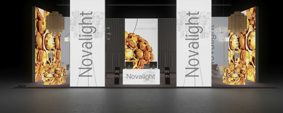 Exhibition Stand Lighting Near Me : Backlit led tower light building frankfurt pixlip gallery