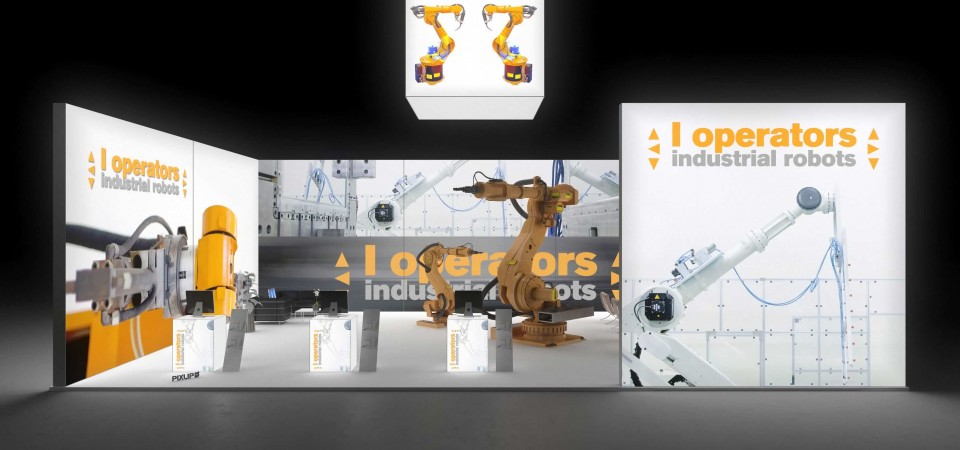 Backlit exhibit stand booth