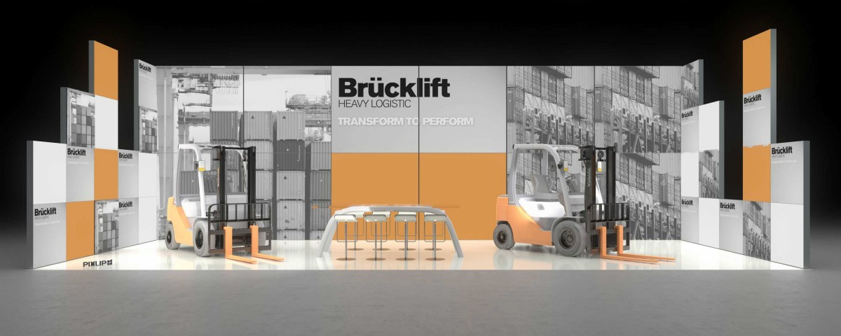 Backlit exhibit fair stand