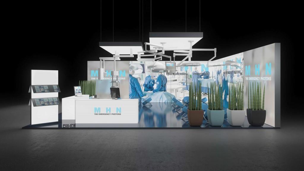 backlit exhibit booth diabetes messe muenster pixlip gallery. Black Bedroom Furniture Sets. Home Design Ideas