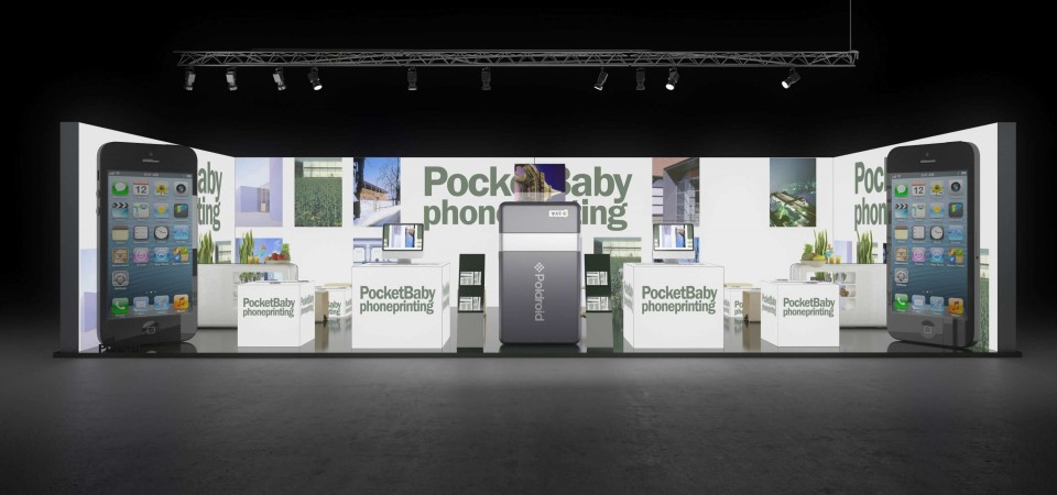 Backlit tade fair stand - dmexco Cologne