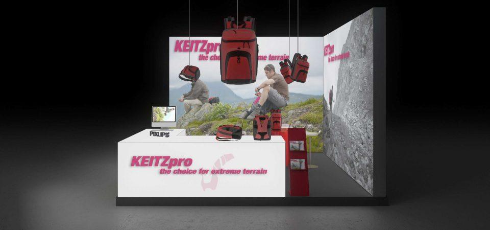 Backlit exhibit booth
