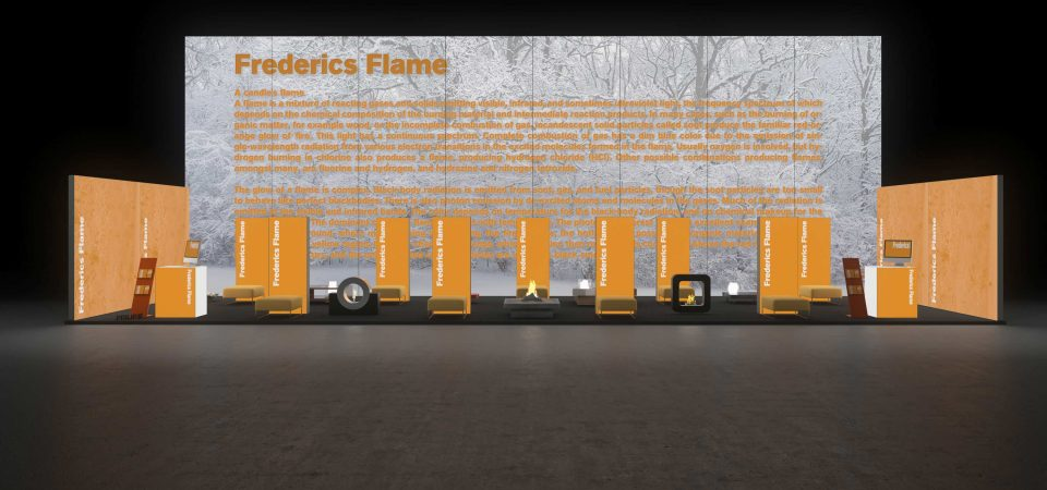 Backlit exhibition stand