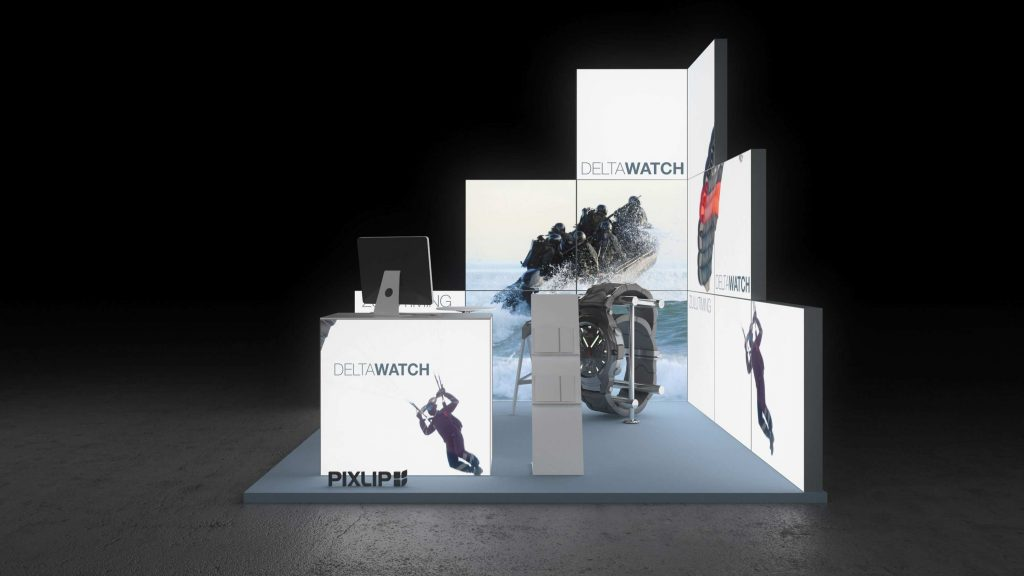 backlit exhibit stand health and wellbeing dresden pixlip gallery. Black Bedroom Furniture Sets. Home Design Ideas