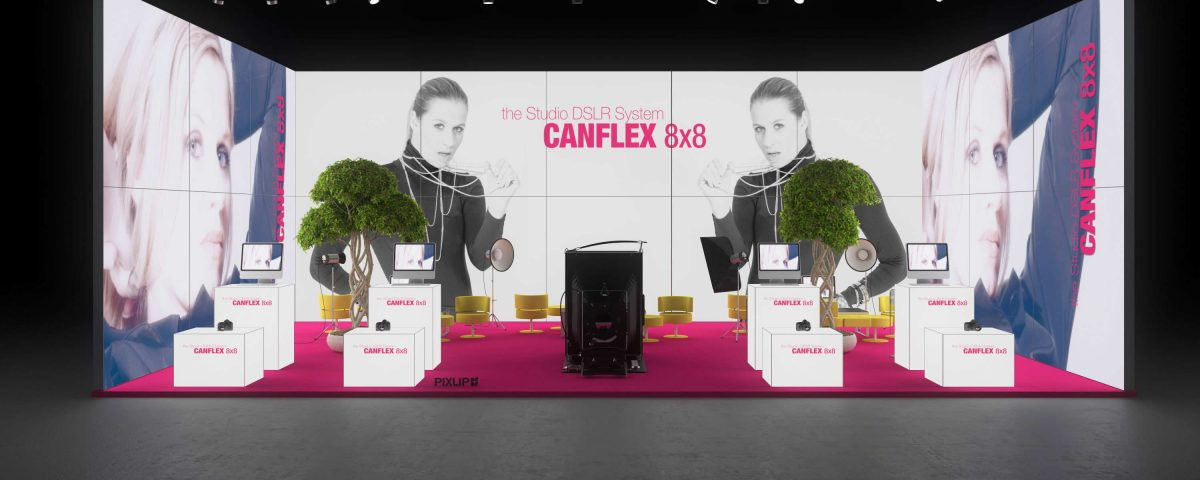 Backlit exhibit stand