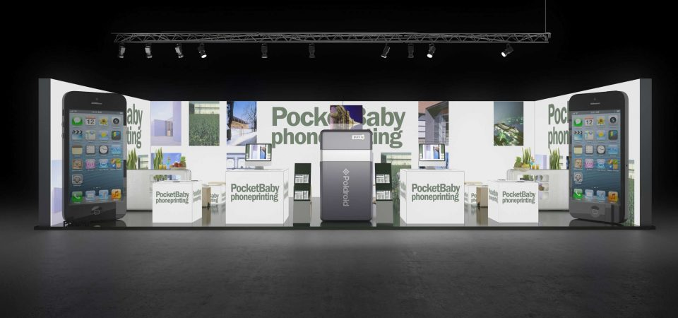 Backlit exhibition booth