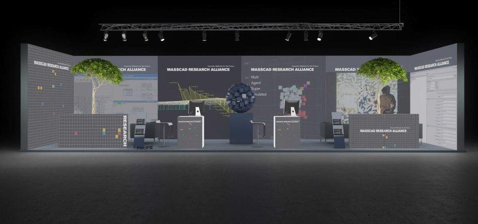 Backlit exhibtion stand