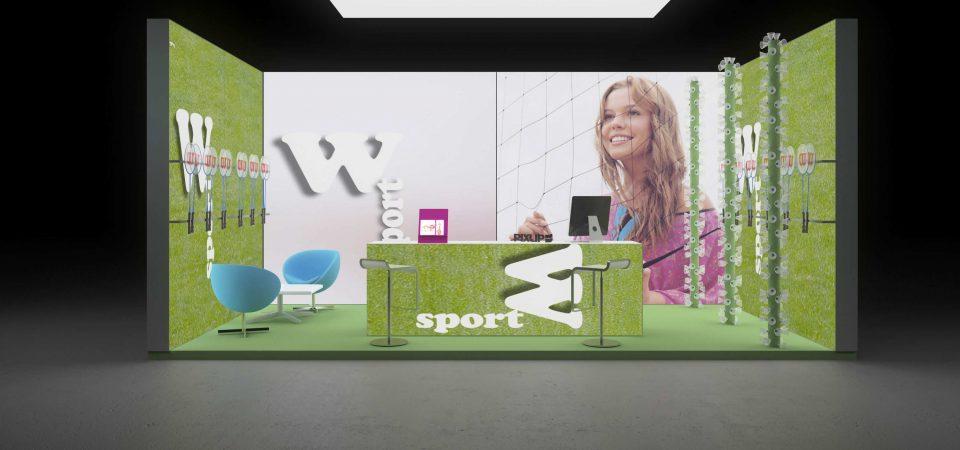 Backlit exhibit stand