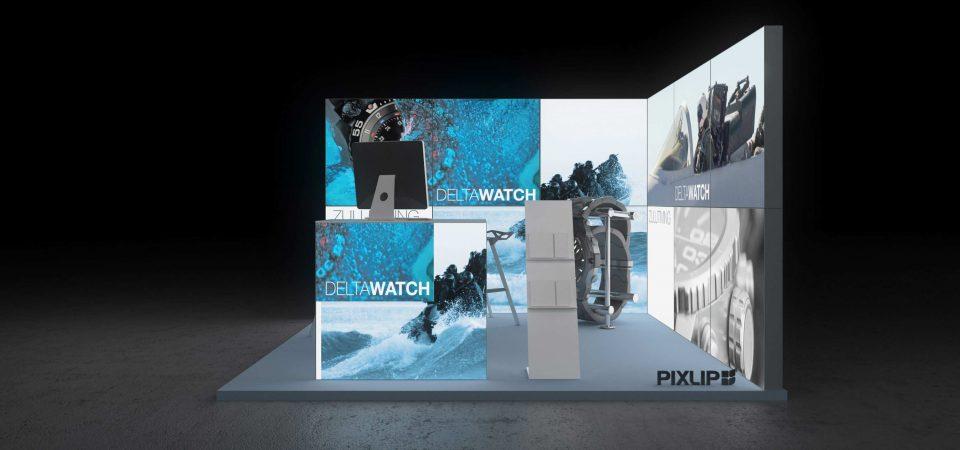 Backlit exhibit display