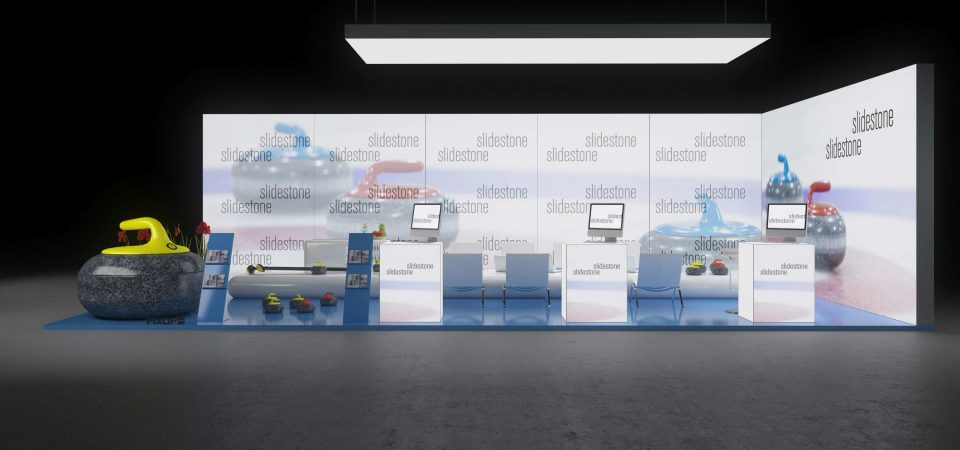 Backlit exhibition wall