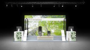 Messestand Fertighaus Energie Passau exhibit Messebau Messewand Messe Stand Messesystem