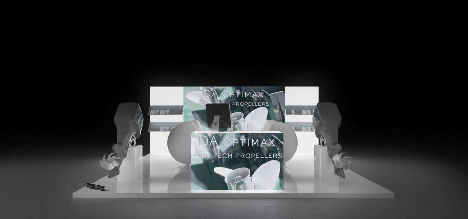 Backlit exhibition display