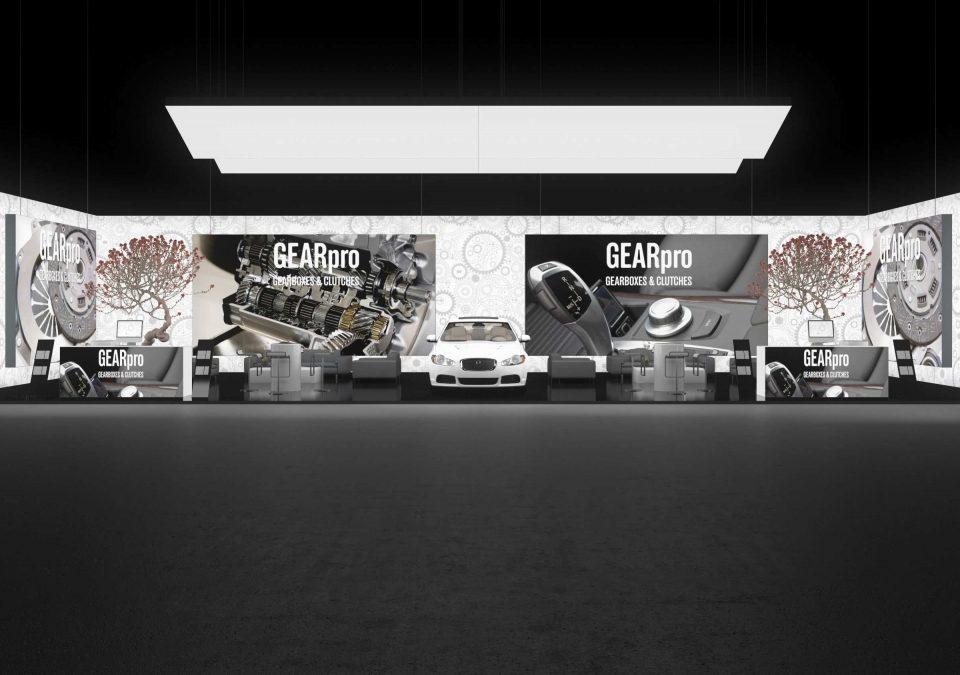 Messestand Ideen - Genfer Mobil Autosalon, Messebausystem